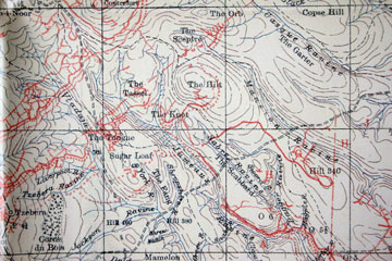 TRENCH MAP OF COURONNE SALONIKA//MACEDONIA